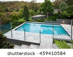 modern swimming pool with a...