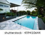 Blue Water Swimming Pool With...
