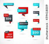 vector stickers  price tag ... | Shutterstock .eps vector #459418009