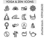 yoga and zen icons | Shutterstock .eps vector #459418630