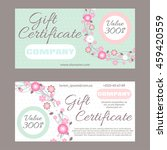 floral ornament vector gift... | Shutterstock .eps vector #459420559