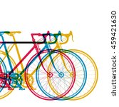 abstract background 3 bikes in... | Shutterstock . vector #459421630