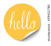 circle sticker with curled... | Shutterstock . vector #459421780