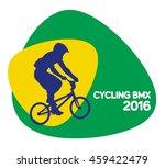 cycling bmx icon  vector... | Shutterstock .eps vector #459422479