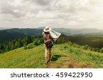wanderlust. stylish hipster...   Shutterstock . vector #459422950