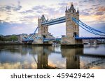 Small photo of Tower Bridge at Sunset, London, United Kingdom.