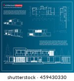wireframe blueprint drawing of...   Shutterstock .eps vector #459430330