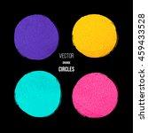 vector grunge circles | Shutterstock .eps vector #459433528