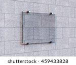 3d rendering blank signs. blank ... | Shutterstock . vector #459433828