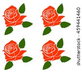 silhouette of a rose in a...   Shutterstock .eps vector #459441460