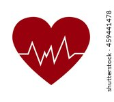 cardio heart icon vector flat... | Shutterstock .eps vector #459441478