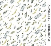 seamless pattern with green... | Shutterstock . vector #459445240