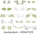 line borders  laurels and text... | Shutterstock .eps vector #459447199