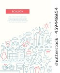 ecology   vector line design... | Shutterstock .eps vector #459448654
