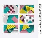 colorful pop art geometric... | Shutterstock .eps vector #459449254