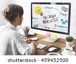 creativity design process... | Shutterstock . vector #459452500