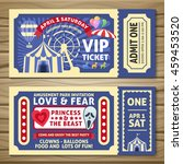 amusement park tickets with red ... | Shutterstock .eps vector #459453520