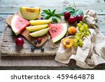 Raw Fruits Background. Healthy...