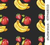 watercolor seamless pattern... | Shutterstock . vector #459468010
