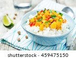 pumpkin chickpea curry with... | Shutterstock . vector #459475150