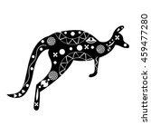 silhouette of a black   white... | Shutterstock .eps vector #459477280