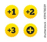 plus icons. positive symbol.... | Shutterstock . vector #459478039
