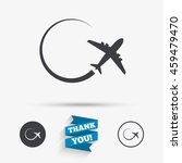 airplane sign icon. travel trip ... | Shutterstock . vector #459479470
