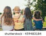 preschoolers build relationships   Shutterstock . vector #459483184