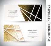 abstract 3d geometric gold... | Shutterstock .eps vector #459483523