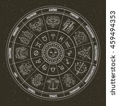 astrology symbols and mystic... | Shutterstock .eps vector #459494353