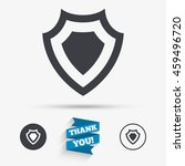 shield sign icon. protection... | Shutterstock . vector #459496720