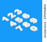 set of flat 3d isometric... | Shutterstock .eps vector #459496804