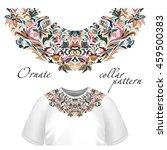 neck print vector floral design.... | Shutterstock .eps vector #459500383