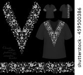 vector design for collar shirts ... | Shutterstock .eps vector #459500386
