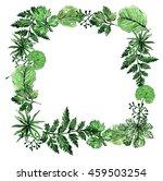 green frame.botanical frame... | Shutterstock . vector #459503254