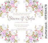 wedding card or invitation with ... | Shutterstock .eps vector #459504478