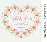 wedding card or invitation with ... | Shutterstock .eps vector #459504544