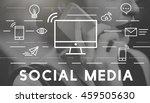 social media devices... | Shutterstock . vector #459505630