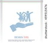 family life insurance sign icon.... | Shutterstock .eps vector #459515476