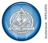 dentistry medical symbol button ... | Shutterstock . vector #459515593
