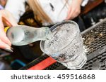 soda being poured into glass  | Shutterstock . vector #459516868
