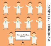 sets of scientist character... | Shutterstock .eps vector #459518380