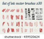 set of ink vector brushes x30.... | Shutterstock .eps vector #459520624