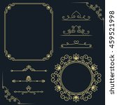 set of vintage elements. vector ... | Shutterstock .eps vector #459521998