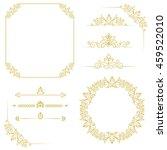 set of vintage elements. vector ... | Shutterstock .eps vector #459522010