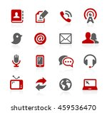 communications icons | Shutterstock .eps vector #459536470