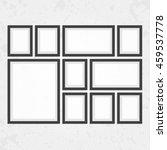 collection of black frames.... | Shutterstock .eps vector #459537778