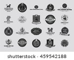 brand design elements in retro... | Shutterstock .eps vector #459542188