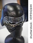 Small photo of SAN DIEGO COMIC CON: July 20, 2016. Screen accurate replica of Kylo Ren's helmet from the Star Wars at the Anovos booth during the annual pop culture and entertainment convention.
