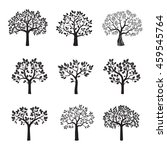 set of black vector trees.   Shutterstock .eps vector #459545764